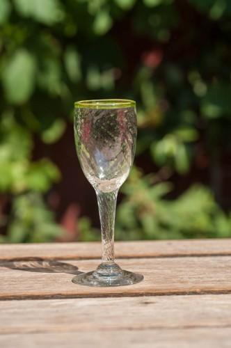 Hvidvin glas m/optik