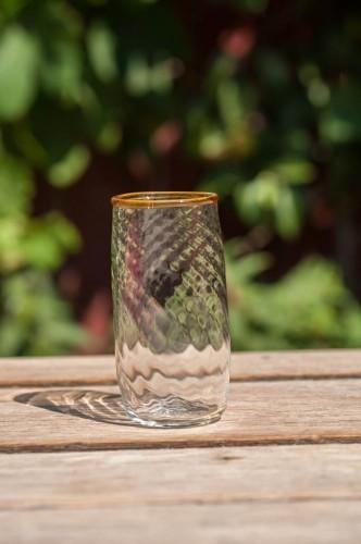 Stort vandglas m/optik