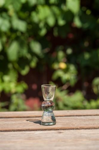 Snapse glas m/ kugle